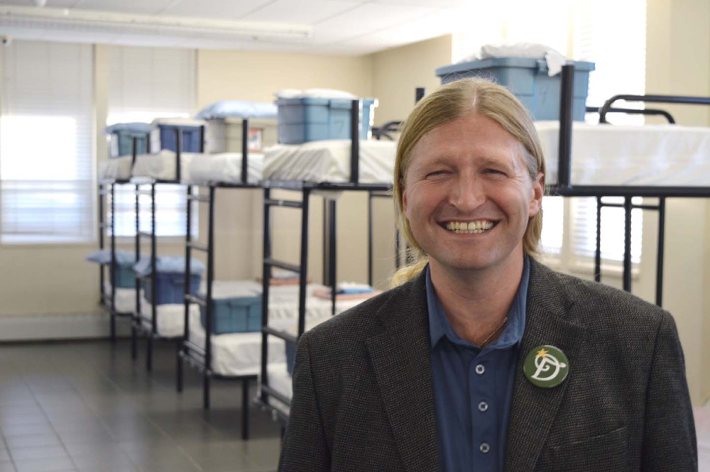 Shayne Williams, executive director of Lookout Emergency Aid Society, during a tour of Whalley's emergency Gateway Shelter. The facility is run out of an old apartment building from the '70s and the organization struggles to serve the community's most vulnerable. (Photo: AMY REID)