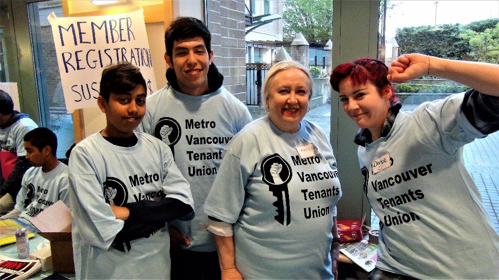 More than 150 renters packed into the inaugural meeting of the Vancouver Tenants Union on Saturday, April 29, 2017 at St. Patrick's Catholic Church in Mount Pleasant neighbourhood.