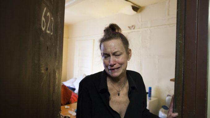 homeless female