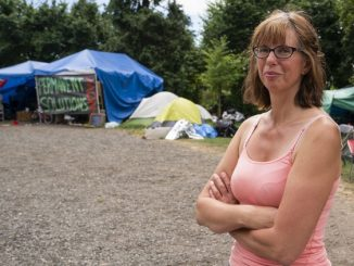 The homeless have run out of places where they can be, so parks are about the only option, advocate Fiona York says. PHOTO BY RICHARD LAM /PNG